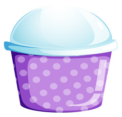 An empty disposable cupcake container