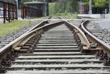 Bahngleis an einer Haltestelle, Nahaufnahme