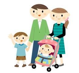 ベビーカーと家族
