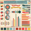 Set elements of retro infographics. Vector
