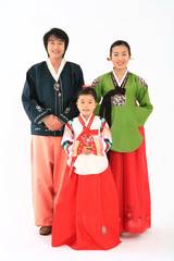 Family in Korean Dress