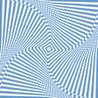 Illusion of rotation wavy movement. Abstract blue backdrop.