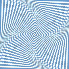 Illusion of rotation wavy movement. Abstract blue backdrop.