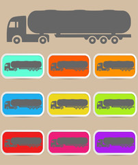 Icon trucks with tanks. Vector
