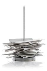 Bill Receipt spike isolated on a white