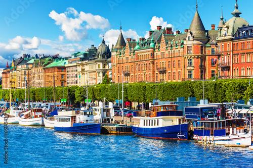 Staande foto Scandinavië Old Town in Stockholm, Sweden