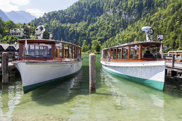 Boats on the lake. Konigssee. Germany