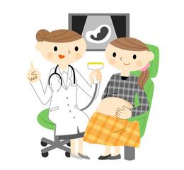 検診を受ける妊婦さん