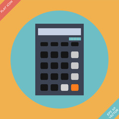 Calculator icon - vector illustration. Flat design element