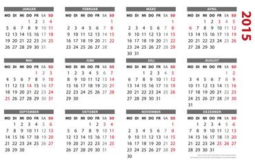 Kalender. 2015, 16 BL, Querformat