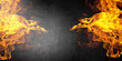 canvas print picture - Fire flames