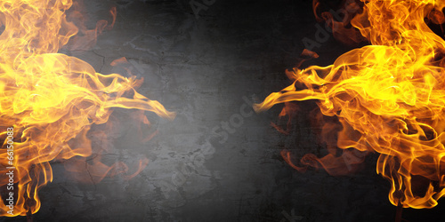 canvas print picture Fire flames