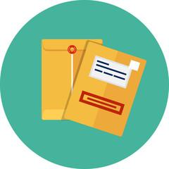 Vector manila envelope