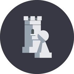 Vector chess rook and pawn