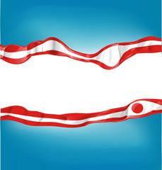 japan flag on  background