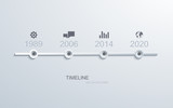 vector timeline infographic element design.