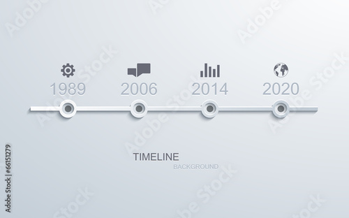 vector timeline infographic element design. - 66151279