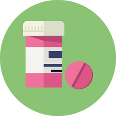 Vector Pill Bottle