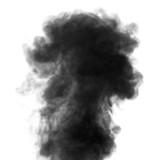 Black steam looking like smoke on white background - 66151871