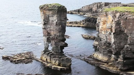 The Castle of Yesnaby on the Orkney Islands