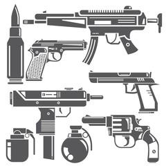 gun and weapon set