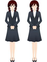 ビジネス女性 直立