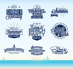 Retro summer typography design