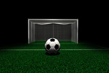 Soccer ball in front goal