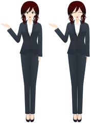 ビジネス女性 案内2