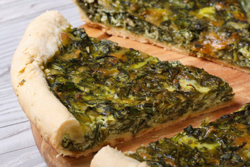 tasty and healthy vegetable pie with spinach macro