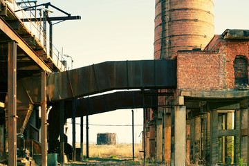 Ruins of a very heavily polluted industrial factory