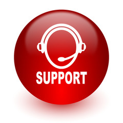 support red computer icon on white background