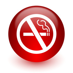 no smoking red computer icon on white background