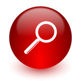search red computer icon on white background