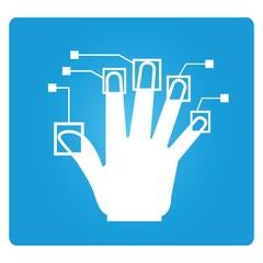 finger print symbol, biometric symbol