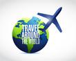 travel around the globe illustration design