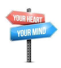your heart, your mind illustration design