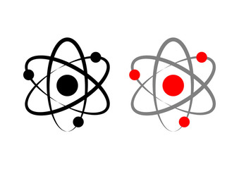 Atom icons on white background