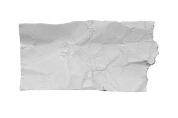 White torn piece of paper