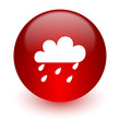 rain red computer icon on white background