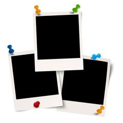leere Polaroid mit Pin