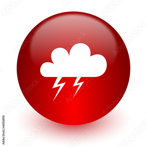 storm red computer icon on white background