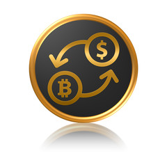 Gold Icon Series - Bitcoin exchange rate