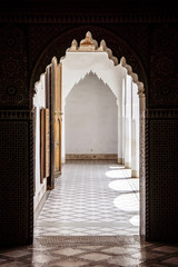 amazing architecture at the Dar Si Said in Marrakech, Morocco