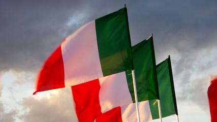 Italien Flagge vid 09