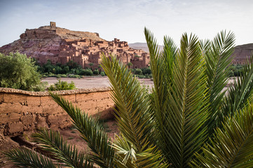 Ait Benhaddou Kasbah at dawn, Morocco, High Atlas Mountains, ksa