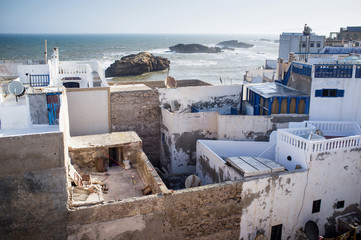 View over the roof tops of Essaouira