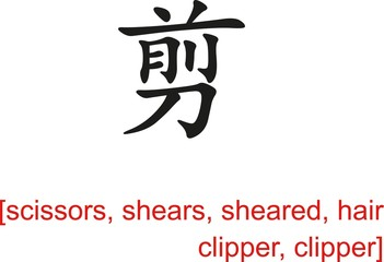 Chinese Sign for scissors, shears, sheared