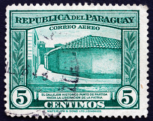Postage stamp Paraguay 1945 Birthplace of Paraguay's Liberation