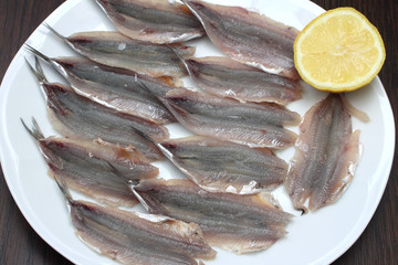 Fresh anchovy fillets